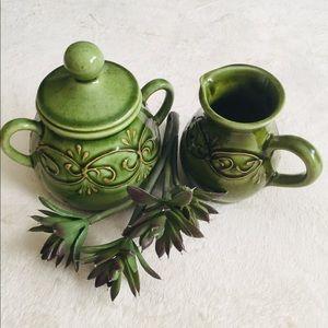 Other - Vintage Pottery Sugar & Creamer Set.